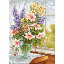 Luca-S Flowers at the Window Cross Stitch Kit (BU4015)
