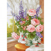 Luca-S Flowers at the Window Cross Stitch Kit (BU4016)