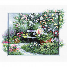 Luca-S Blooming Garden Cross Stitch Kit (BU4012)